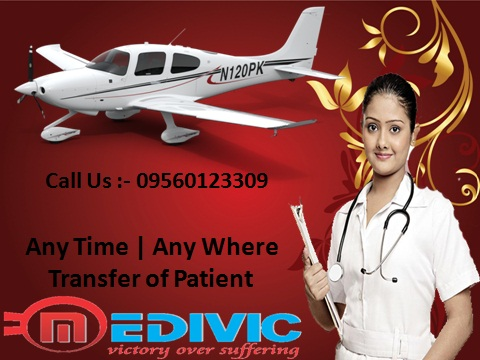 HI-Tech Facility Air Ambulance from Lucknow to Delhi at Low Cost