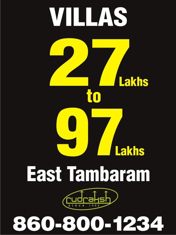 Villas in tambaram 30lakhs onwards