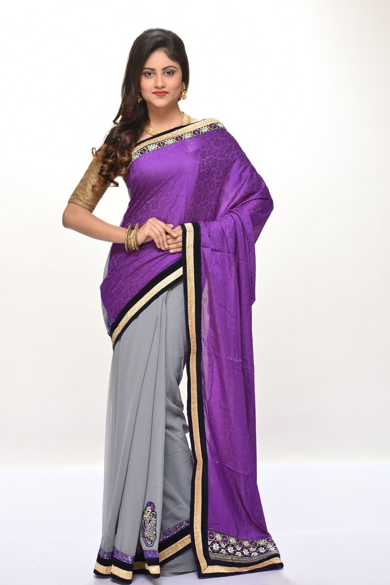 Image for  Buy Exquisite Chiffon Sarees Online From Adimohinimohankanjilal