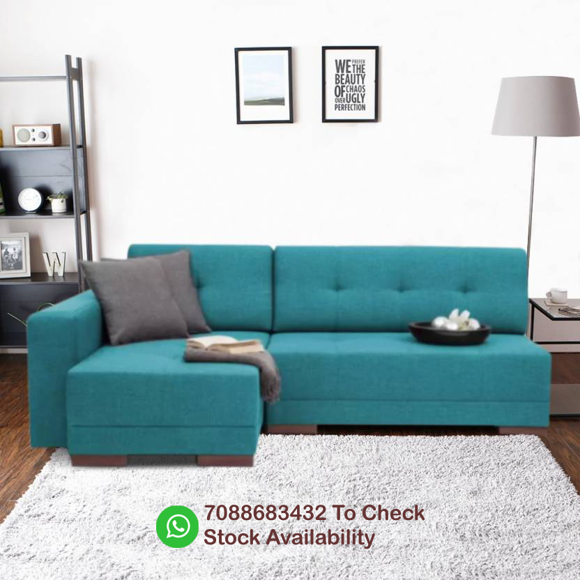 Image for L Fabric 4 Seater Sofa Free Shipping with 5 years wareenty