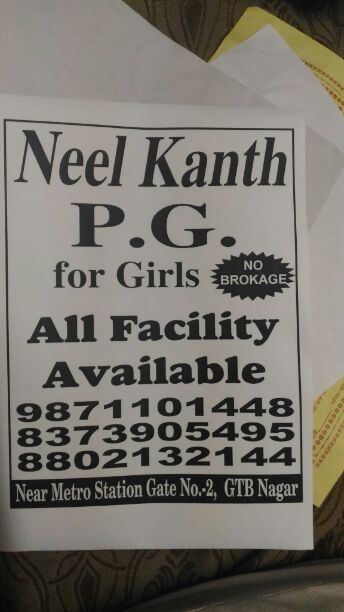 Image for Girl's PG starts at 4500* in north Delhi gtb nagar