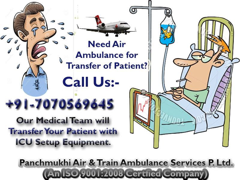 Avail Panchmukhi Air Ambulance Service in Bhopal