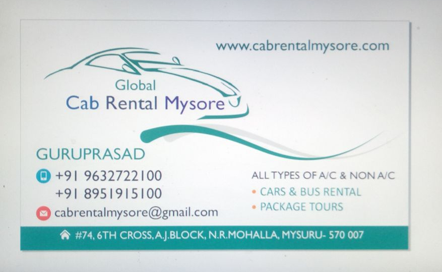 Tourist Service In Mysore With cabrentalmysore 9632722100