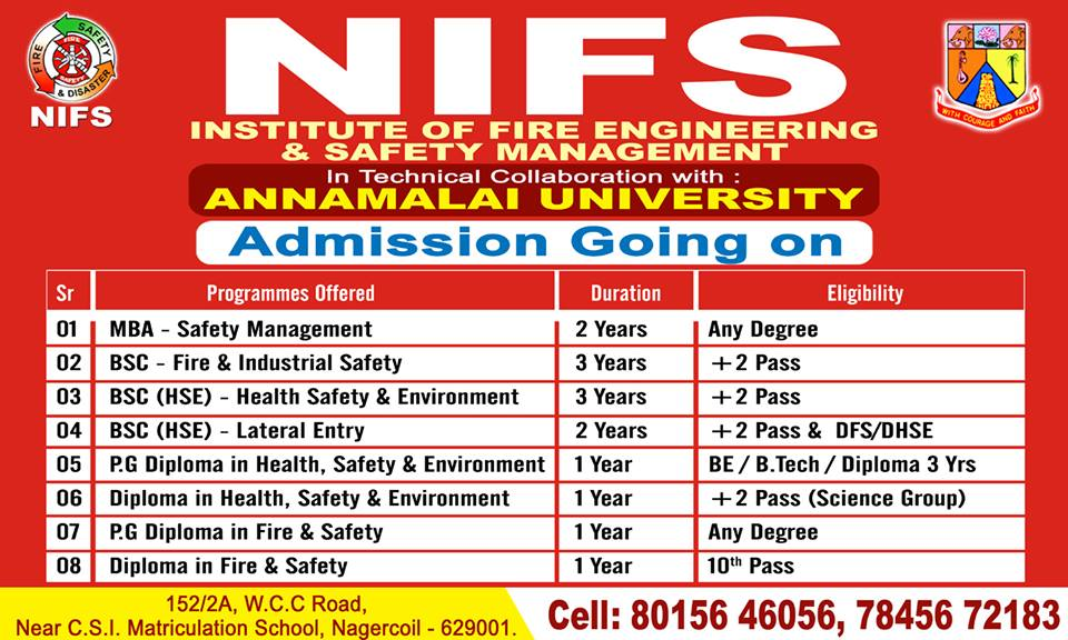 Image for NIFS FIRE AND SAFETY COURSE IN NAGERCOIL