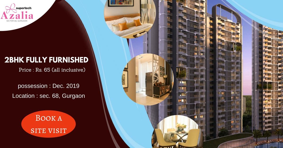 Buy 2 BHK Fully Furnished Apartments - Supertech Azalia