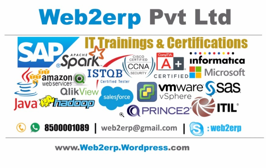 Trainings And Certifications By Web2erp Computer Training Centers