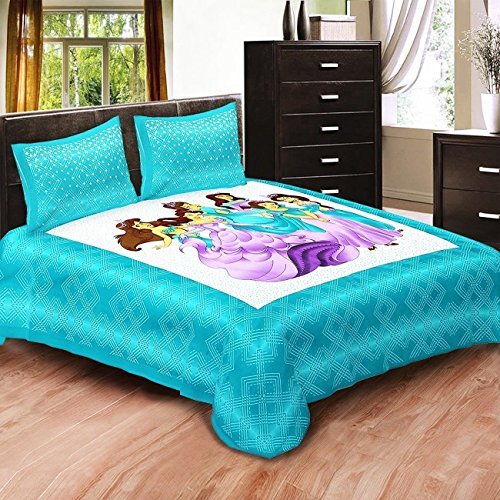 Bedcolors 100% Cotton Kids Cartoon Barbie Princes Printed Double Bedsh