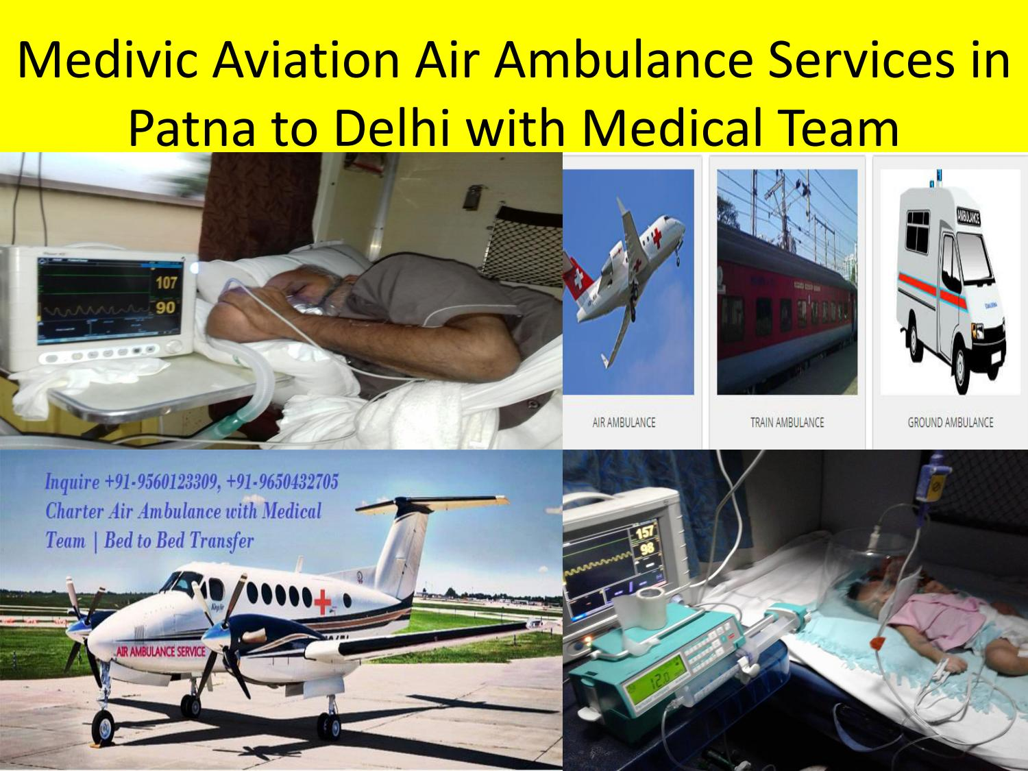ICU Facilities Air Ambulance Service in Varanasi to Delhi –Medivic