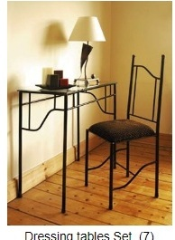 Wrought Iron Dressing Table Set Furniture