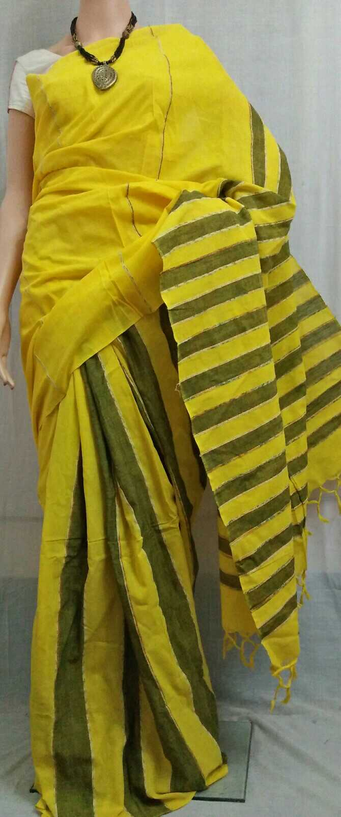Image for Buy Handloom Plain Khes Saree with BP Online for Rs 970 on Vynam.in