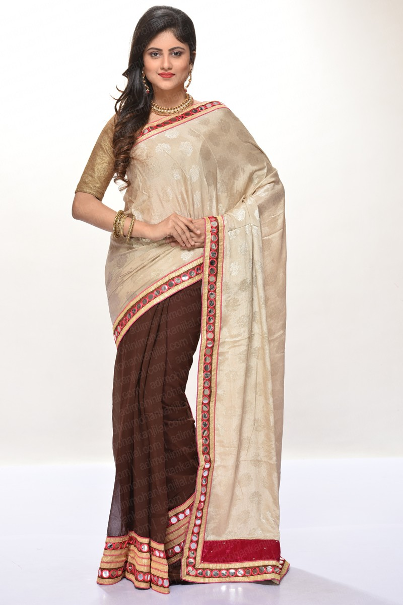 Image for Shop chiffon sarees online from the 100 years saree store,AMMK