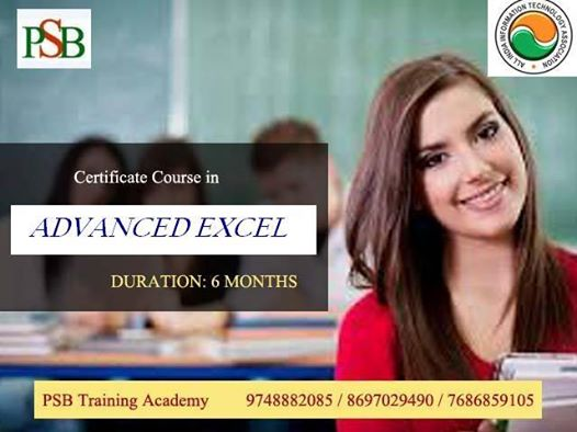 Certificate Course In Advanced Excel