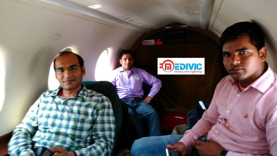 India Based Medical ICU Air Ambulance Service in Raipur