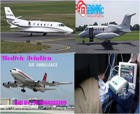 Medivic Air Ambulance Services in Kolkata with Medical ICU Service