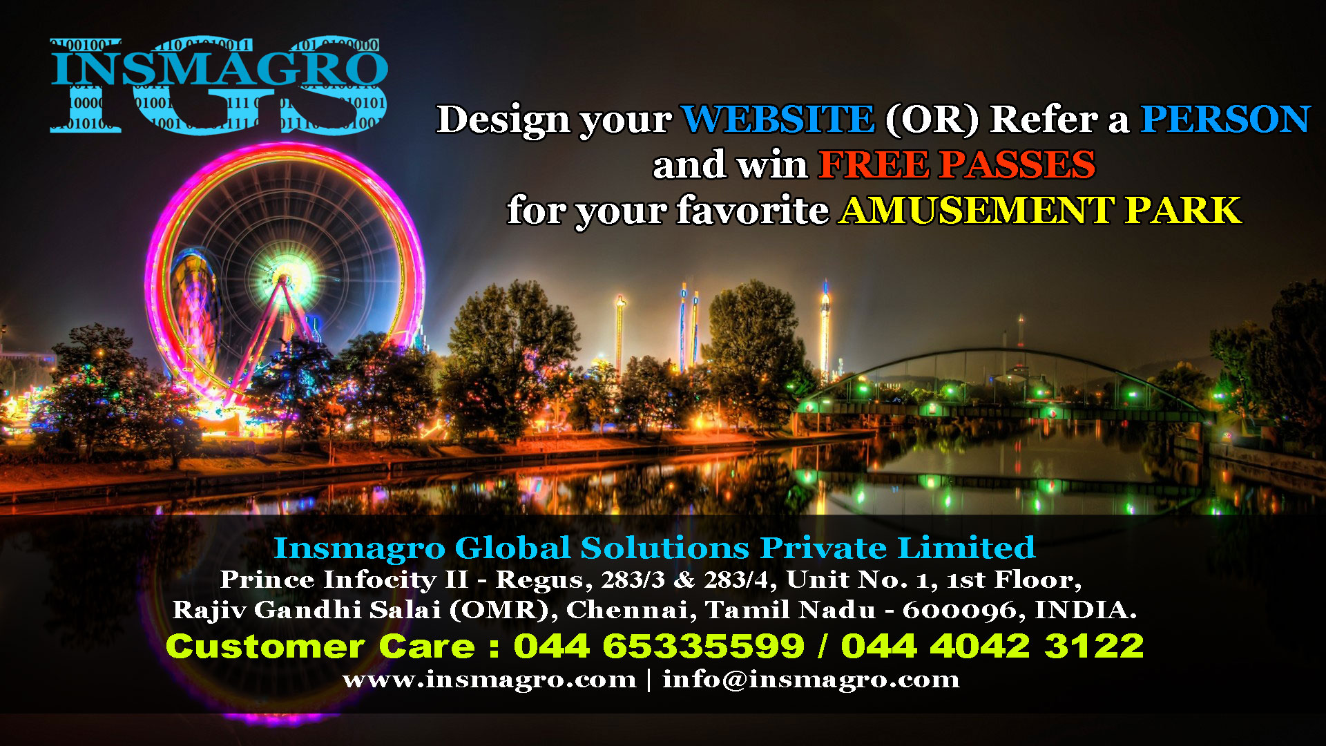 Design your website and win free passes for amusement park..!!!