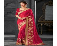Image for Art Silk Embroidery Work Designer Sarees