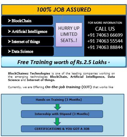 Image for Training for blockchain,artificial intelligence and datascience
