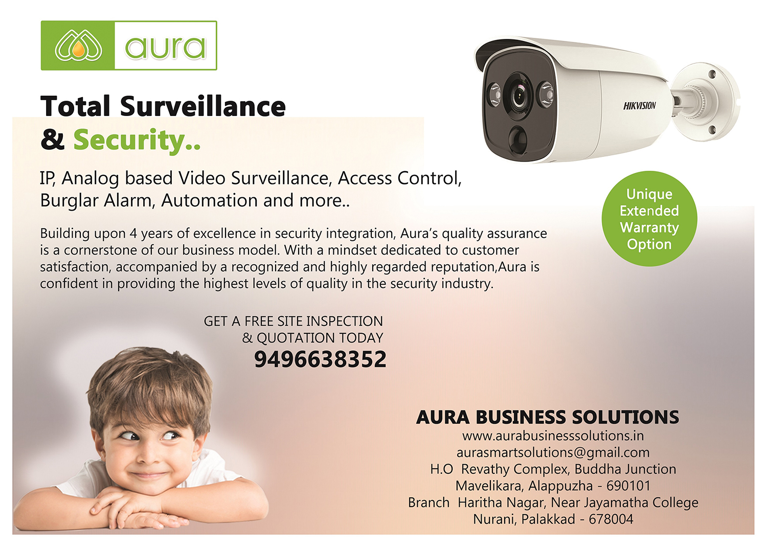 Image for Aura-CCTV Dealers, Supplier, CCTV Installation in Palakkad, Coimbatore