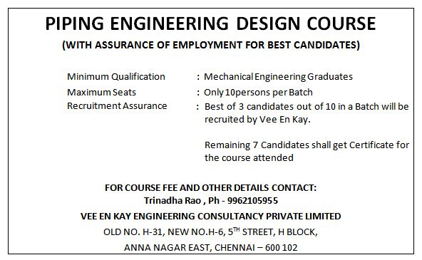 Piping Engineering Design Course Professional Short Term Courses Oclicker