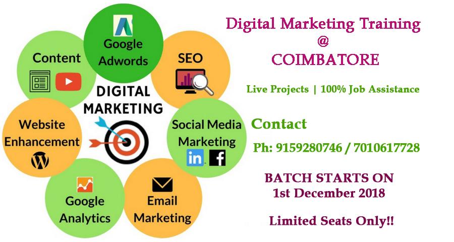 Image for Digital Marketing Training Institute in Coimbatore
