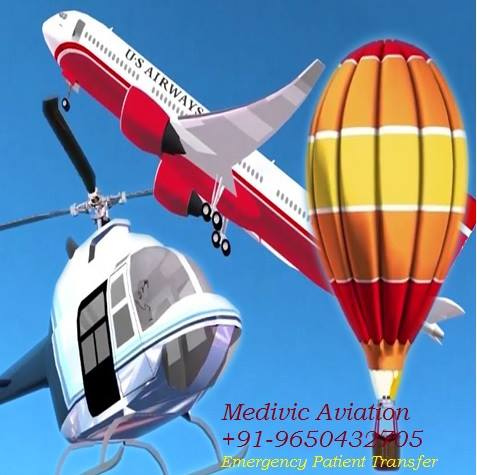 Medivic Aviation Air Ambulance Service in Silchar at Low Cost