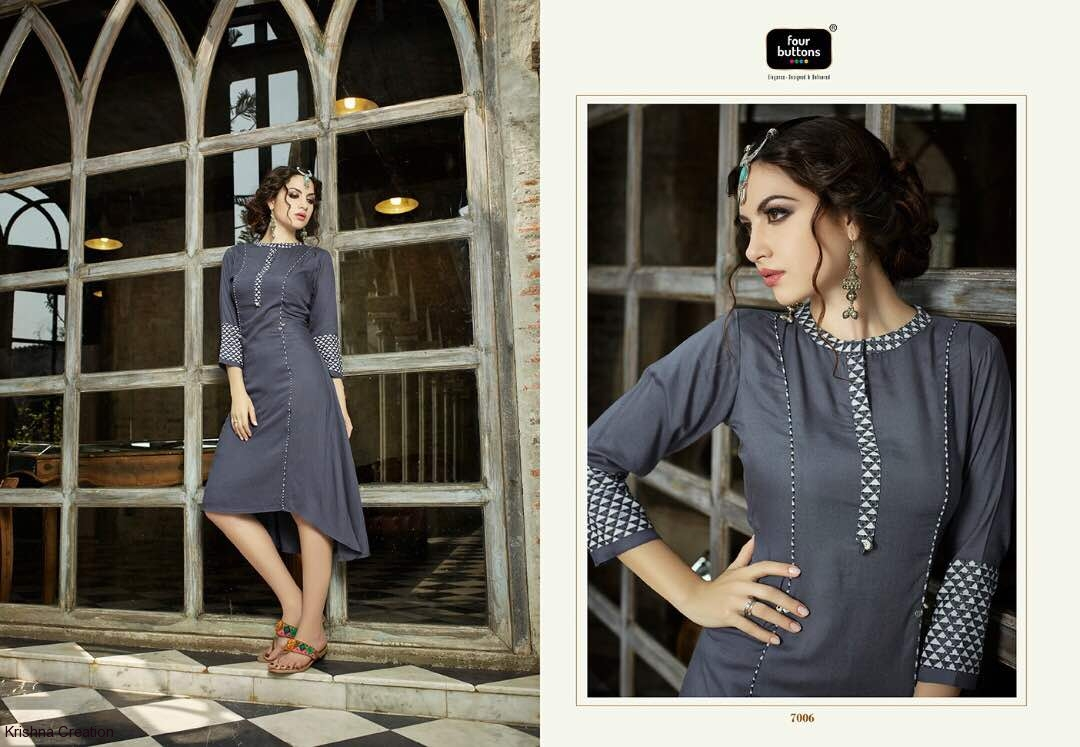 ​rayon kurtis from four buttons by amoh catalog at wholesale available