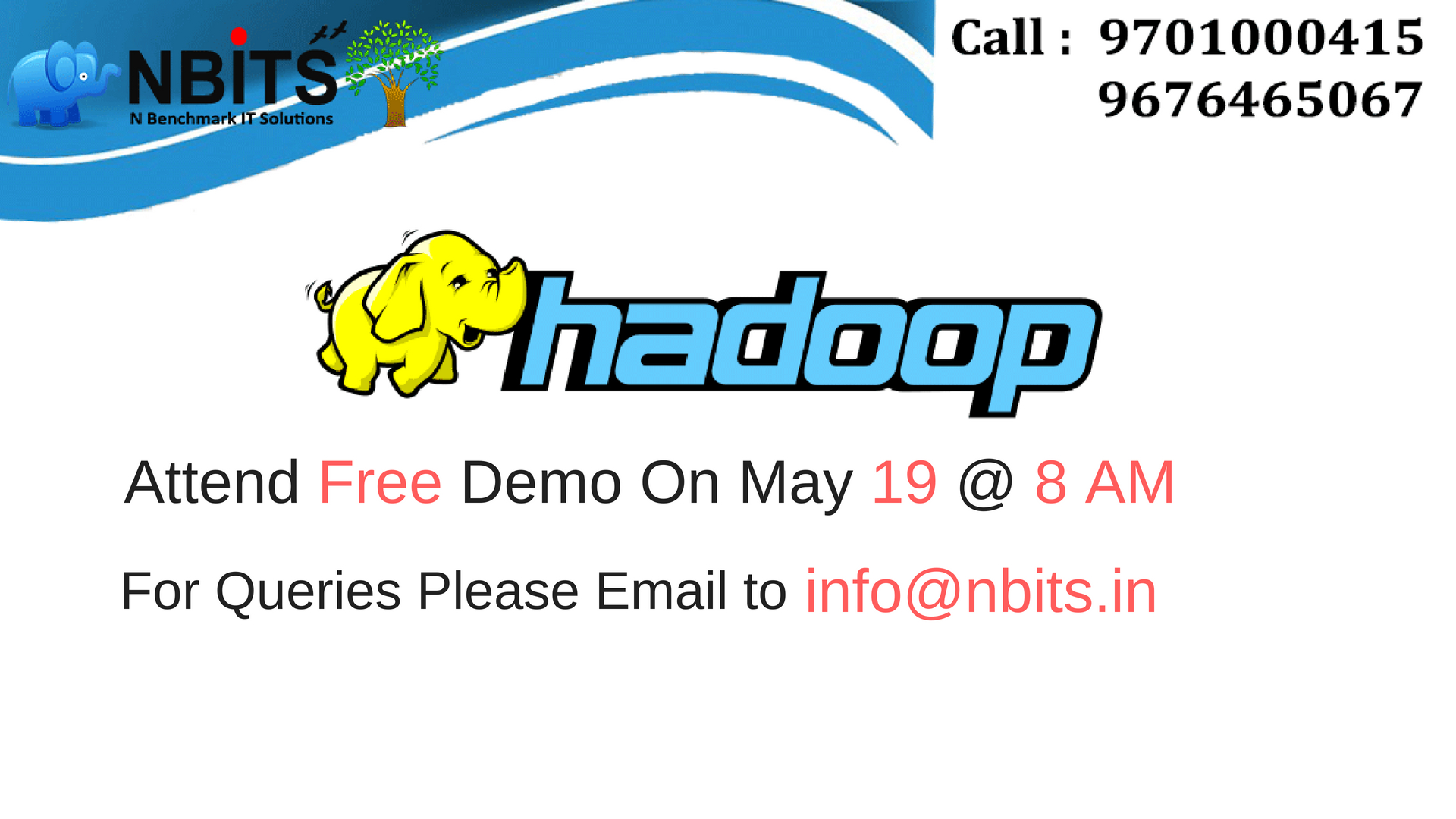 Image for Free Demo On Hadoop Training in Hyderabad and Hadoop Online Training