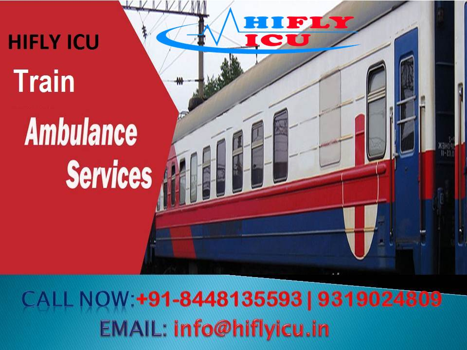 Image for HIFLY ICU Train Ambulance in Delhi with Advanced Medical Facility