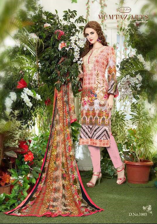 Lawn cotton printed suits catalog from mumtaz original lawn vol7  moq-