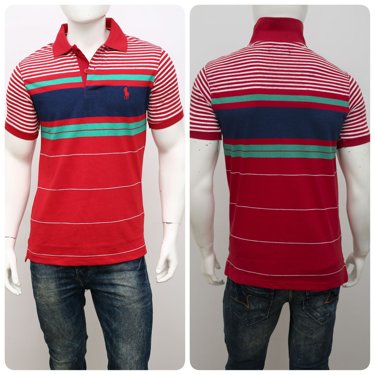 Image for Men's POLO T-Shirt half sleeve Auto Stips