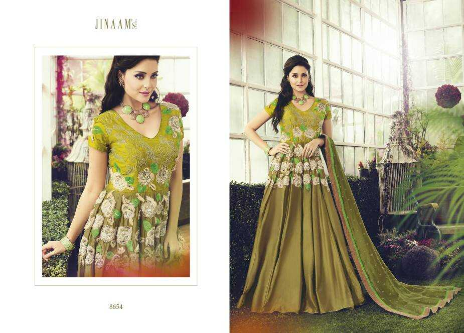 Semistitched anarkali catalog from jinaam rabea at wholesale moq- 2pcs