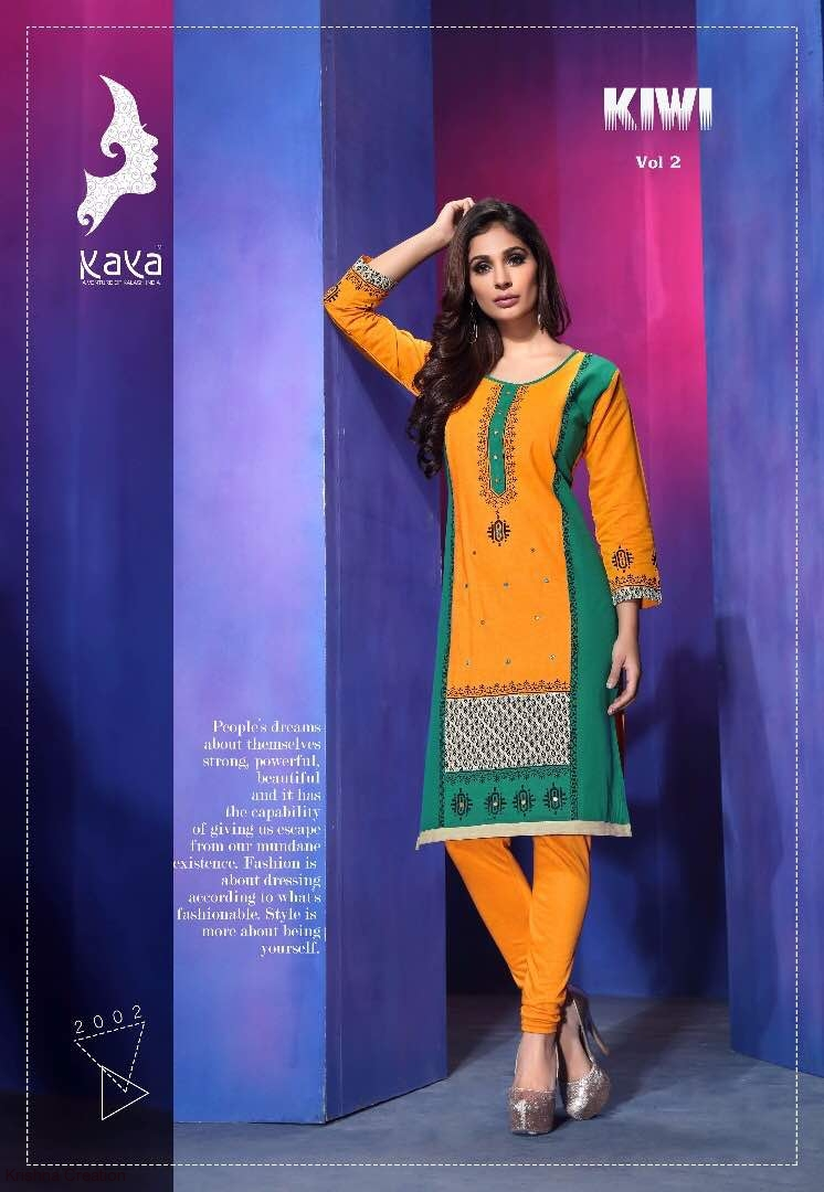 Kiwi vol2 by kaya cotton readymade kurtis catalog at wholesale