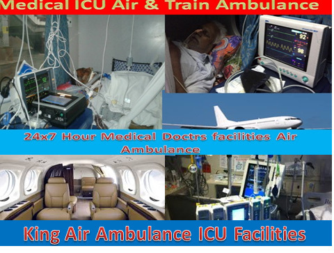 Medical Air and Train Ambulance Services form Patna to Delhi