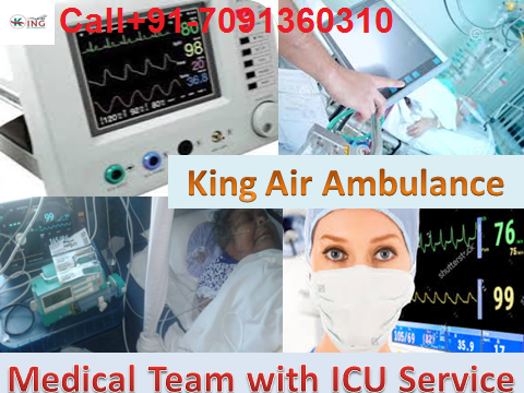 King Air Ambulance Service in Gorakhpur with Medical Facilities