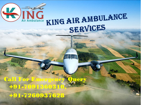 Charter Air Ambulance Services from Kolkata to Delhi-King Air Ambulanc