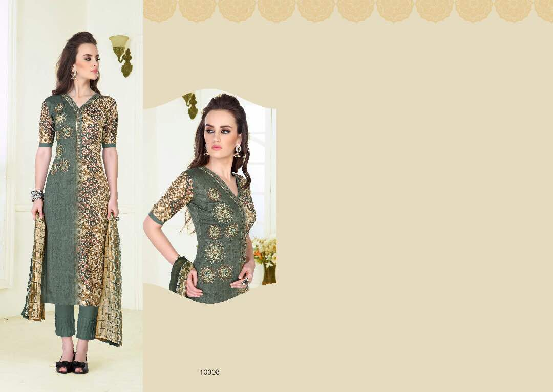 Image for Cotton embrodiered suits catalog from lifestyle mcm tehzib moq- full s