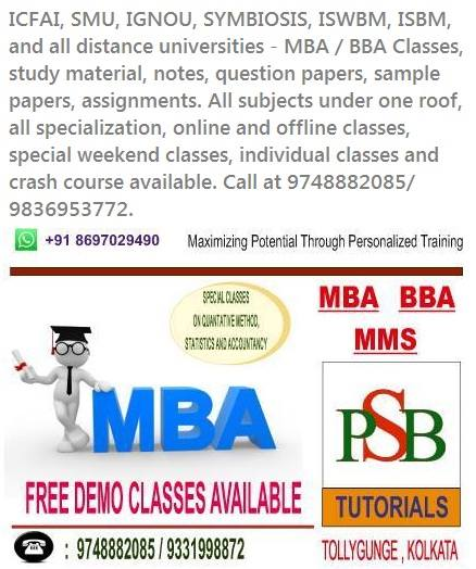 MBA and BBA Tutions