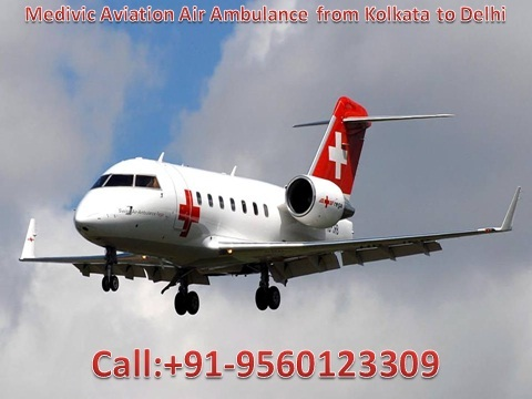 Low Cost Air Ambulance from Kolkata to Delhi-Medivic Aviation