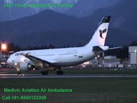 Low Fare Air Ambulance from Bhopal to Delhi by Medivic Aviation