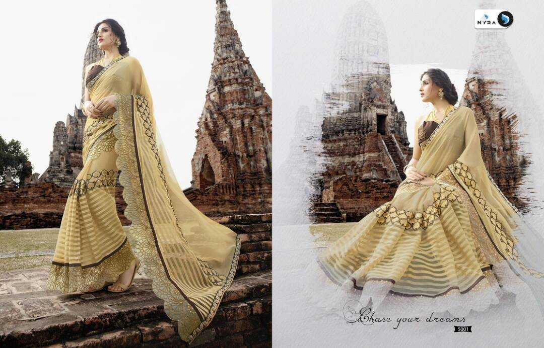Designer georgette sarees from nyra kangana at wholesale  moq- full se