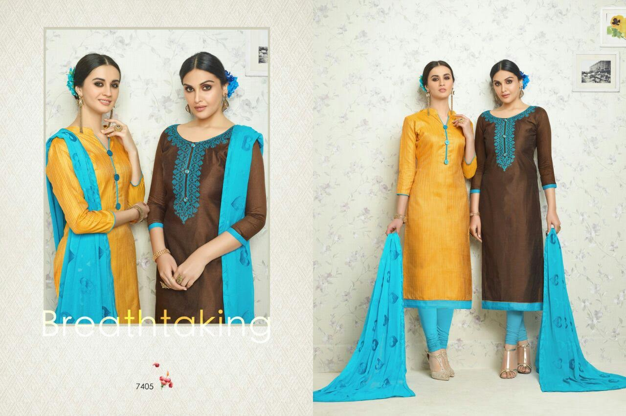 Banarsi and chanderi double top from one and only catalog at wholesale