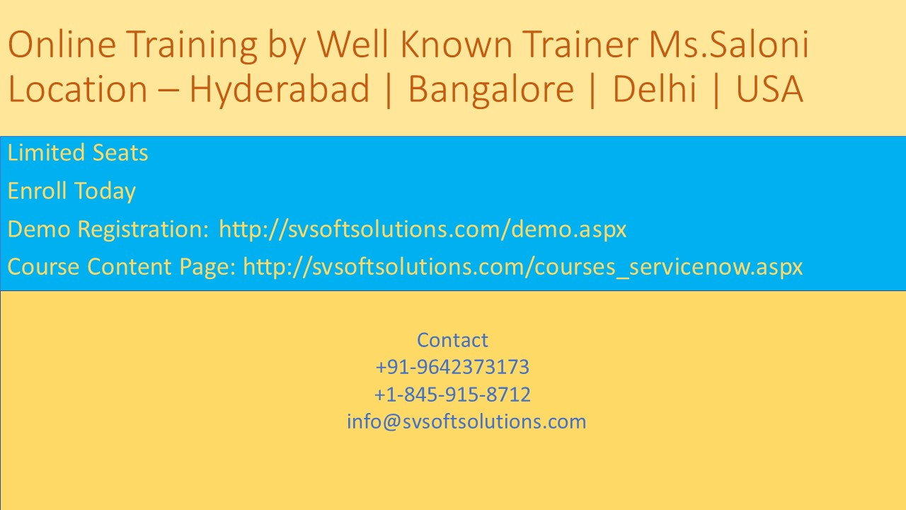 Image for Servicenow Online Training in Hyderabad by SV Soft Solutions