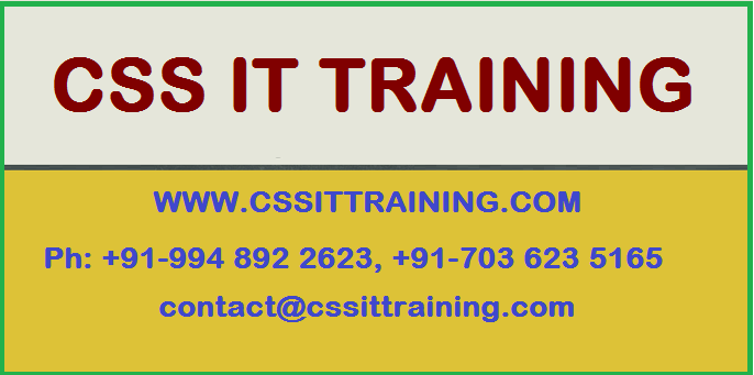 Oracle Financials Training Classes in Hyderabad by CSS