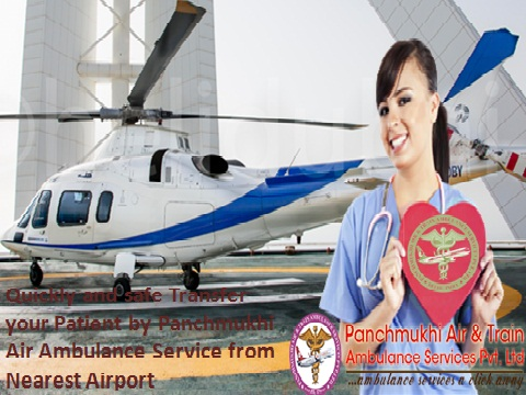 Panchmukhi Air Ambulance from Allahabad to Delhi at Best Price