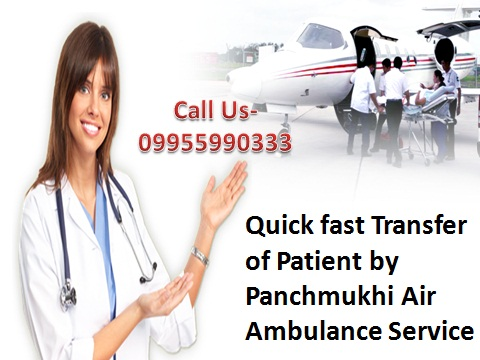 Emergency Rescue Medical Air Ambulance from Guwahati to Delhi
