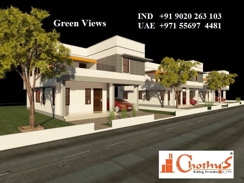 Chothys Green Views Villas Near Vattiyoorkave Puliyarakonam 9020263103