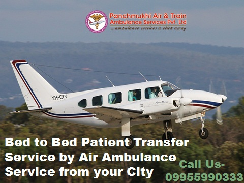 Panchmukhi Air Ambulance from Dibrugarh to Delhi at Best Price
