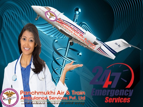 Panchmukhi Air Ambulance from Jamshedpur to Delhi with Doctor