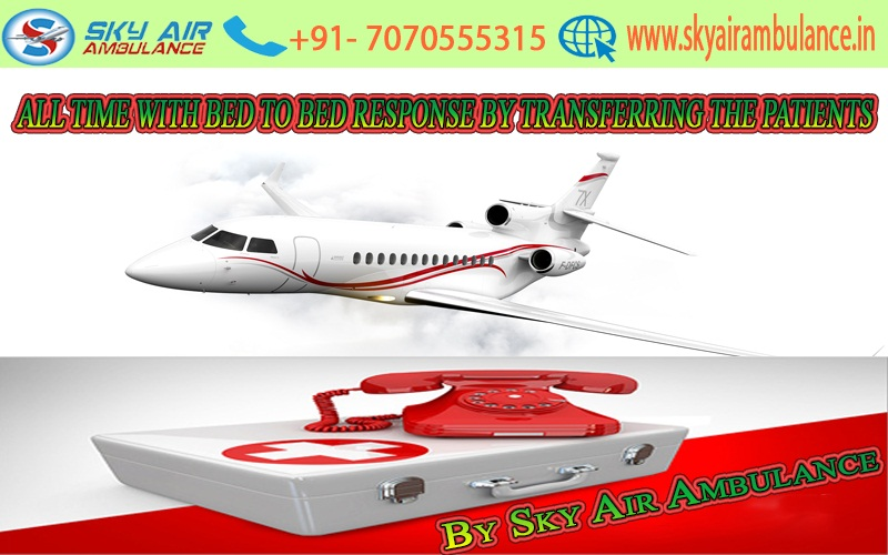 Sky Air Ambulance from Ranchi to Delhi at Cheap Price